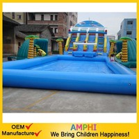 Top level best Selling outdoor inflatable water/dry slide