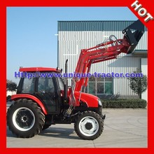 UT 80HP 4WD tractor with front end loader and backhoe