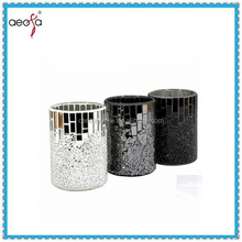 High quality competitive price tall mosaic decor for wedding glass mirror vase