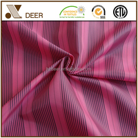 Custom Waterproof 100% Polyester Stripe Suit Fabric With Cheap Price