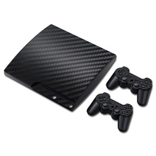 Colorskin Costume Pure Black Skin Sticker for Sony Playstation 3 Slim PVC Vinyl Skin Sticker for PS3 Slim Game Accessories