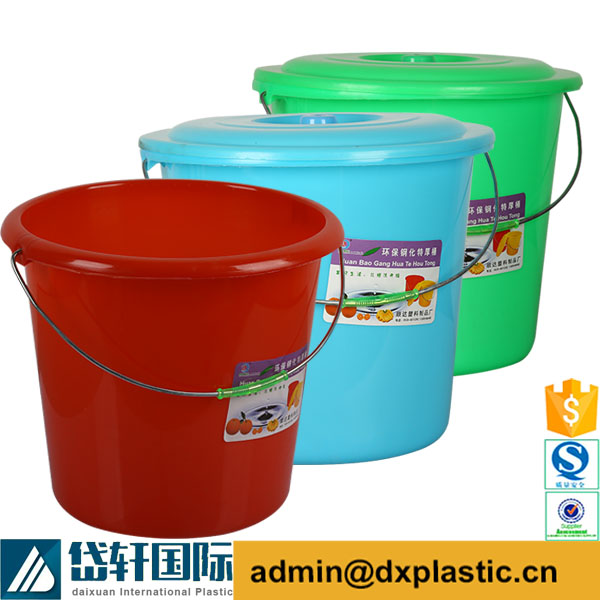 colorful small rope handled plastic pails