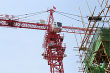 Variable amplitude tower crane