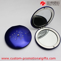 Classical Fashion Metal vanity mirror, compact mirrors wholesale, Folding double side cosmetic mirror