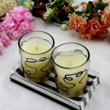 LYJ222 china supplier Longyu Vendor beautiful printing scented candle glass holders for wedding