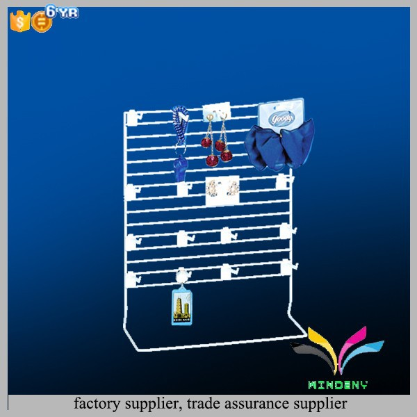Factory directly customized cell phone accessory hanging metal wire counter display rack