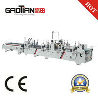 GAOTIAN brand SHH800AG Automatic French Fry Box Folder Gluer Machine / Automatic crash lock bottom Folding Machine