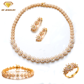 wholesale jewelry set aaa quality brass ring/earrings/necklace/bracelet
