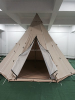 Leshade outdoors 5M luxury 100cotton canvas teepee Indian tipi camping tent