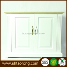 Factory direct modern white wooden storage cabinet