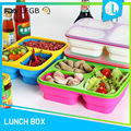 Professional manufacturer portable airtight eco silicone collapsible lunch box