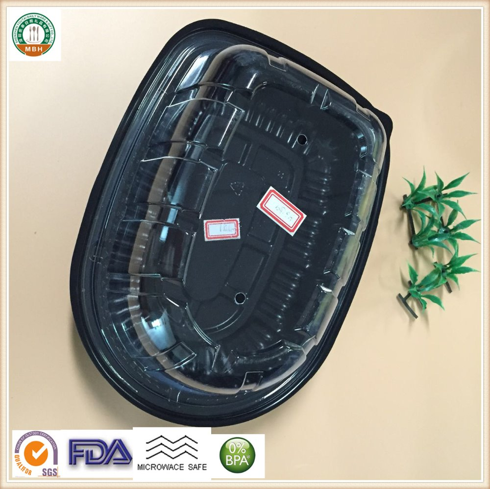 Plastic desposable luxury turkey packing boxes SGS/FDA Approval