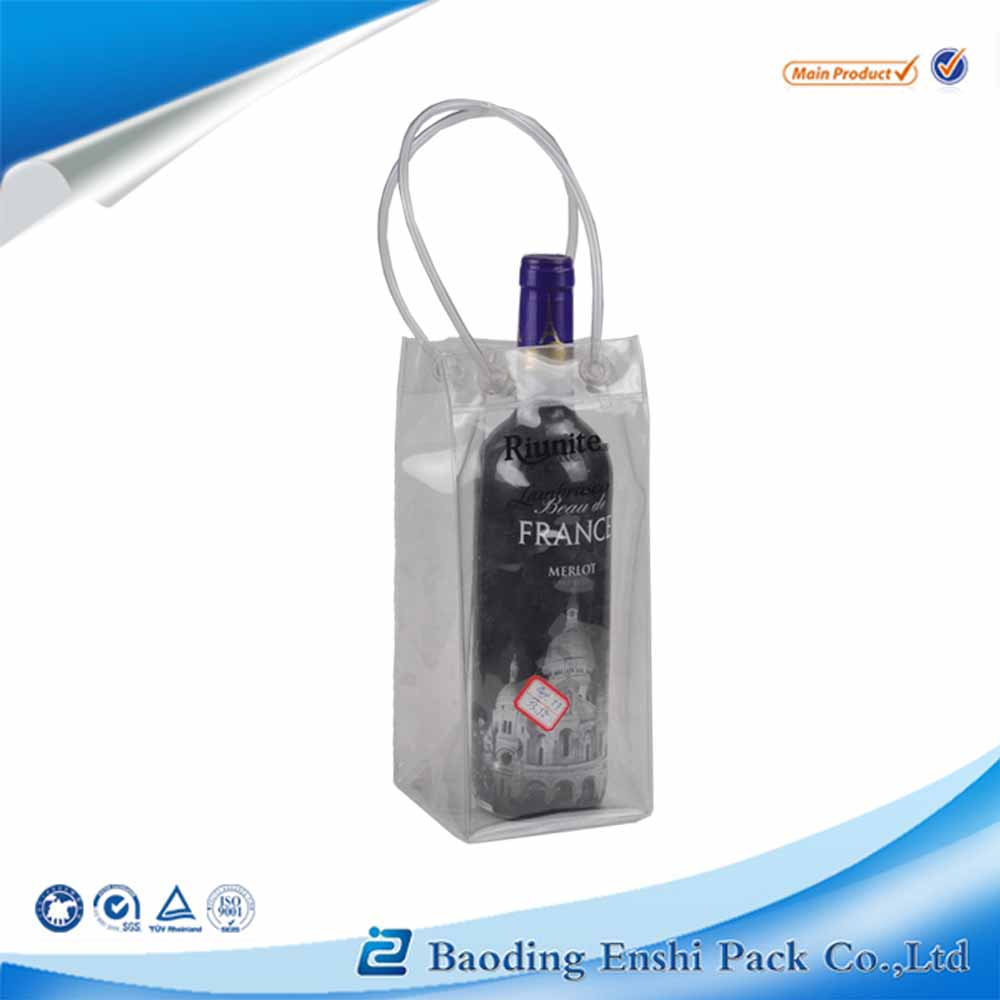 Accept Custom Order and PVC Plastic Type wine cooler plastic bag