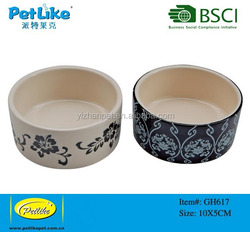 New 2016 online shopping dog cat pet China supplier personalized ceramic bowl with flower pattern dog bowl
