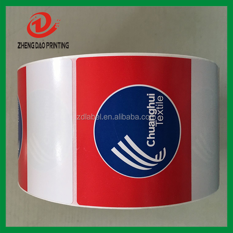 custom adhesive textile label sticker