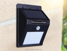 Outdoor Small Solar Light Type and IP65 Protection Level LED Blinking Solar Light with Sensor