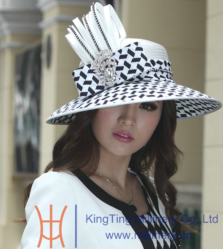 New ladies elegant dress hat satin dress hat women hat