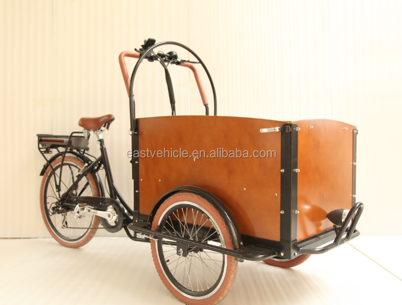bakfiets cargo carrier tricycle with pedel sensor for adults