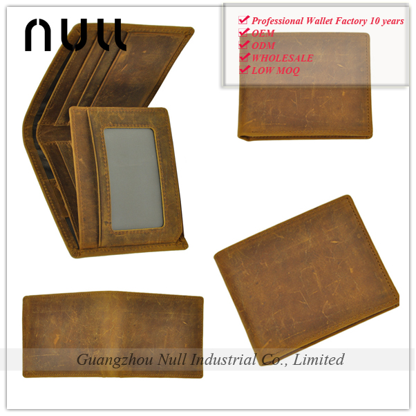 Anquite Durable Crazy Horse <strong>Leather</strong> Men' Wallet from Guangzhou