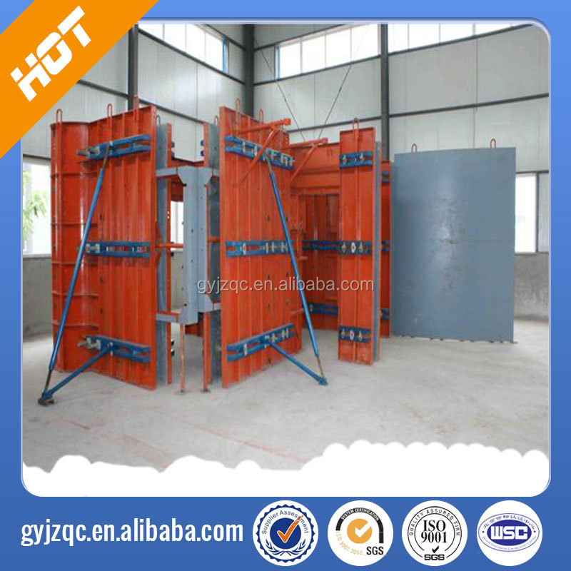 Reusable concrete wall steel form board system