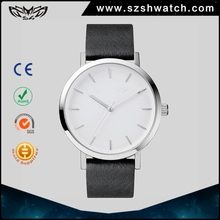 Men custom logo leather strap stainless steel case japan movement pc21s pc21j quartz top 10 brand hand wrist watch low prices
