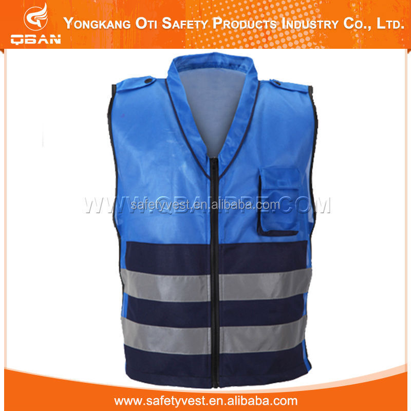 Children blue reflective safety vest
