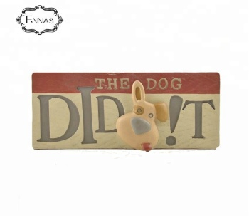 Creative resin dog tombstone souvenir handcraft home
