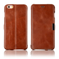 C&T Genuine Leather Folio Flip Leather Case Ultra Slim with Magnetic Closure for iPhone 6s 4.7 inch