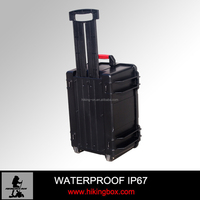 ABS trolley Case / plastic carrying case with Handle &wheeled for transport valuables