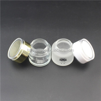 50ml clear frosted glass materials cosmetic jar for facial mask