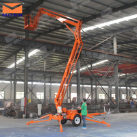 14m trailing articulating boom lift/air lift platform