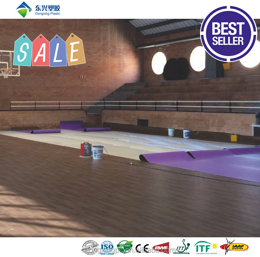 portable pvc basketball sports flooring