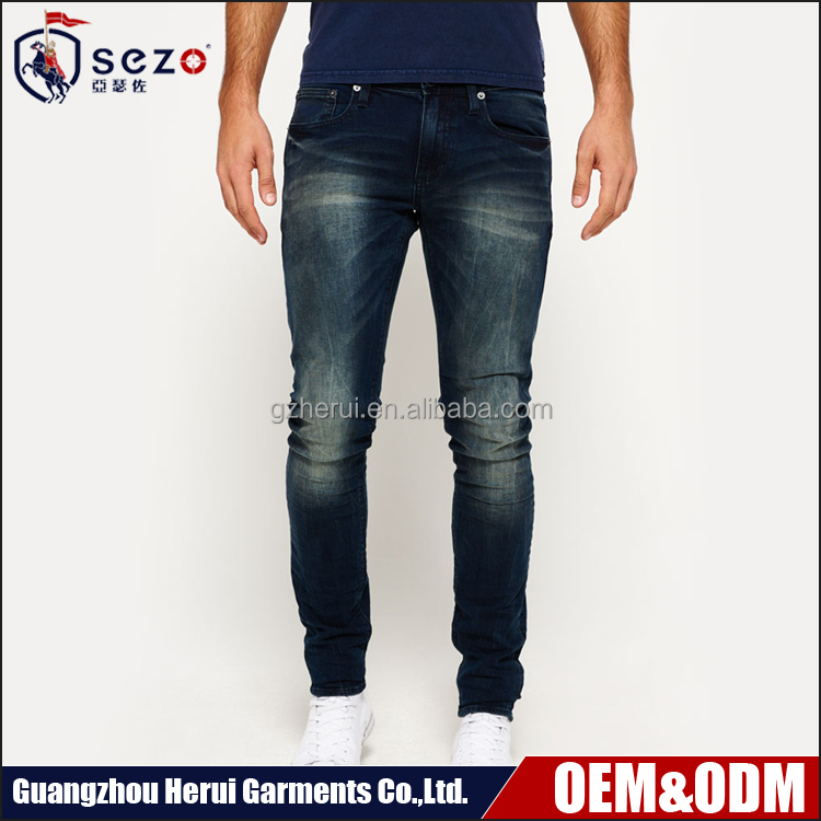 2016 New Design 100% Cotton Denim Jeans Pants Hot Sale Casual Men Tight Jeans Trousers