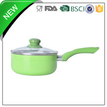 green aluminum ceramic coating sauce pan