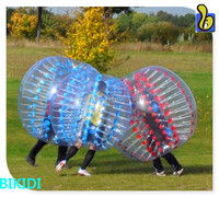 Big discount! 0.8mm/1.0mm PVC/TPU soccer bubble,,inflatable bumper bubble ball for football china supplier D1005