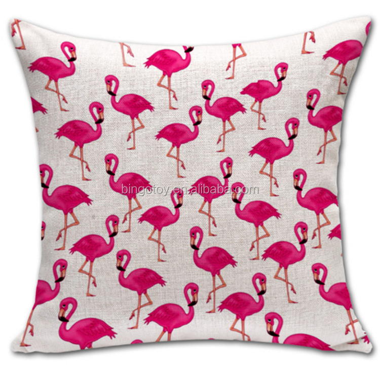 New design square Chinese style printed swan pillow case