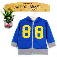kids boys hooded baby jacket with front zipper