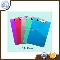 High Transparent Color Flexible Plastic Clipboard