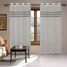 2018 linen look chenille stripe horizontal matching stripe curtain