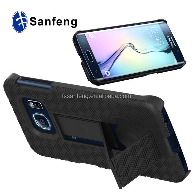 Paypal is accepted hard plastic robot mobile case for Samsung galaxy S6 edge G9250 kickstand case