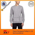 Blank heather grey plain pullover sweatshirts without hood for men
