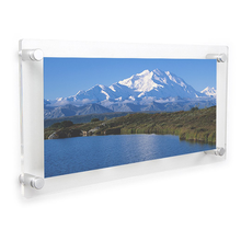 Acrylic Wall Frame 8x16 Inch Panoramic Floating Picture Frame Collage Photo Frames 4x6 Inch 3 Opening
