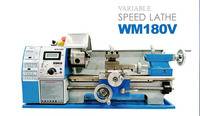 Hot sell!!! Newest Hobby mini lathe WM180V machine/ easy operation bench lathe