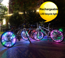 LED Bicycle Spoke Wheel Strip Light Cycling Bike Mountain LED Bicycle Lights