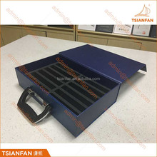 Custom Logo Printed Cardboard Stone Marble Sample Display Suitcase Box With Handle And