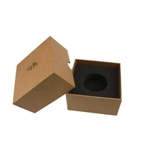 Recycling material individual kraft gift boxes delicate design square gift boxes lid