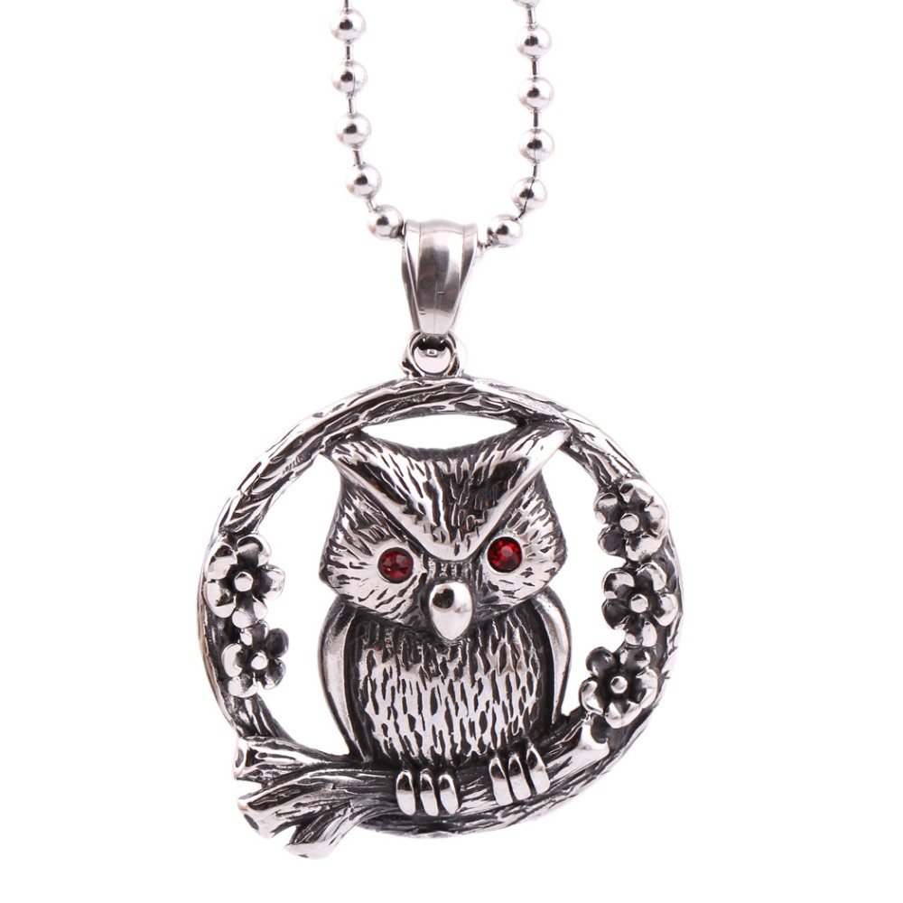 Zhongzhe Jewelry Punk Vintage Stainless Steel <strong>Pendant</strong> Mens Womens Owl Necklaces <strong>Pendant</strong>, OEM/ODM