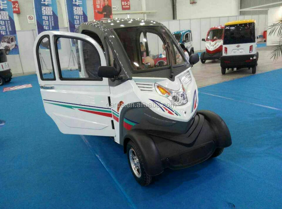 4 wheel passenger enclosed electric scooter car/adult electric vehicle with four wheeler