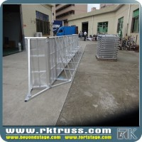 Best quality and factory price metal road safety barrier folding safety cowed control barriers