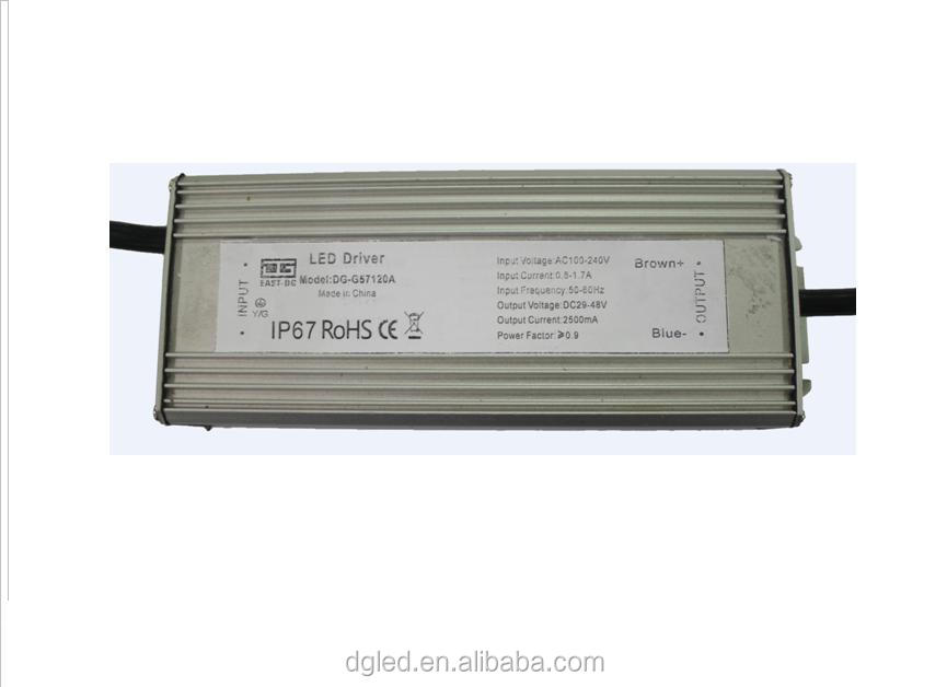 china supplier new products Top High Quality 2500ma ip67 120w waterproof dimmable led power supply